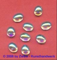 Strassstein, 10mm x 8mm, (kristall/AB), 1 Stück