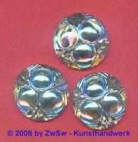 Strassstein, Ø 25mm, (kristall/AB), 1 Stück