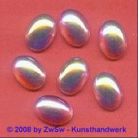 Strassstein, 18mm x 13mm, (kristall/AB), 1 Stück