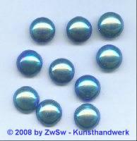 Strassstein, Ø 12,5mm, (sattblau/AB), 1 Stück