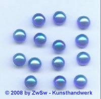 Strassstein, Ø 7mm, (blau/AB), 1 Stück