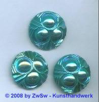 Strassstein, Ø 25mm, (türkis/AB), 1 Stück
