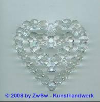 fac. dopp. Herz aus Acrylglas, 60mm x 55mm, kristall
