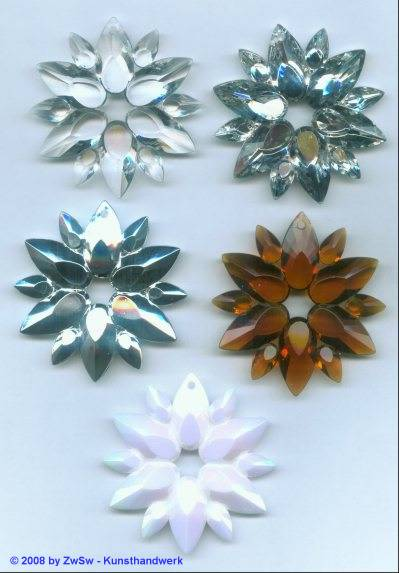 Stern/Orden aus Acrylglas, kristall, ca. Ø 60mm