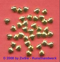 Herzperle, 5mm, 1 Stück (gold)