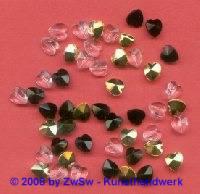 Herzperle, 9mm, 1 Stück (kristall)