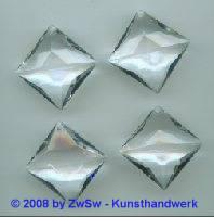 Kristallanhänger, 25mm x 25mm, 1 Stück (kristall)