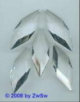Rautenanhänger, 55mm x 28mm, 2 Stück (kristall)