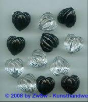 Herzperle, 18mm, 1 Stück (kristall)
