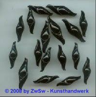 Acrylglasperle schwarz 1 Stück, 25mm lang