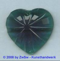 Acrylglasherz dunkelgrün 1 Stück, 46mm x 43mm