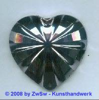 Acrylglasherz hematite 1 Stück, 46mm x 43mm