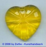 Acrylglasherz goldgelb 1 Stück, 46mm x 43mm