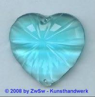 Acrylglasherz aquamarin 1 Stück, 46mm x 43mm