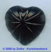 Acrylglasherz schwarz 1 Stück, 46mm x 43mm