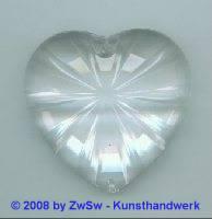 Acrylglasherz kristall 1 Stück, 46mm x 43mm