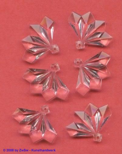 Acrylglasanhänger kristall 1 Stück, 27mm x 22mm