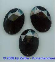 Solitairstein aus Acrylglas, 40mm x 30mm, schwarz, 1 Stück
