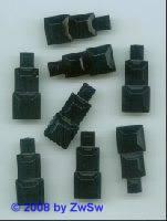 Dreifachquadrat, 28mm x 12mm, schwarz, 1 Stück