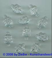 Strassperle 23mm x 14mm kristall, 1 Stück