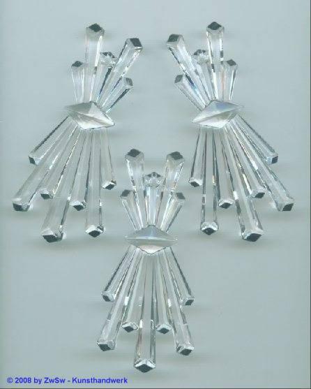Strahlenanhänger kristall, 68mm x 30mm, 1 Stück