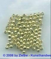 Perlen gold, 1 Stück, Ø 2,5mm
