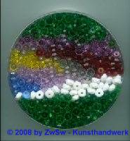 Ca. 1100 facettierte Acrylglasperlen