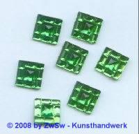 Strass/quadratisch 12mm x 12mm (grün) 1 Stück