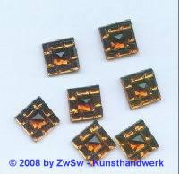 Strass/quadratisch 12mm x 12mm (dunkeltopas) 1 Stück
