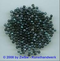 Glasperle Ø 4mm (schwarz/scarabeus) 20 Gramm