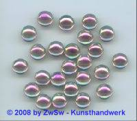 Strassstein, Ø 9mm, (rosa/AB), 1 Stück