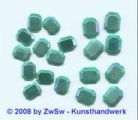 Strassstein 1 Stück, (türkis/AB), 10mm x 8mm