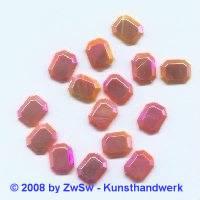 Strassstein 1 Stück, (orange/AB), 10mm x 8mm