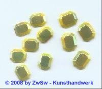 Strassstein 1 Stück, (zitronengelb/AB), 10mm x 8mm