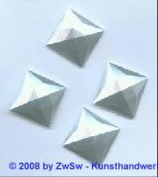 Strassstein 1 Stück, (wachsweiß), 25mm x 25mm