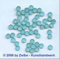 Strassstein, 1 Stück, (aquamarin/gefrostet), Ø 4,5mm