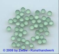 Strassstein, 1 Stück, (hellgrün/gefrostet), Ø 4,5mm