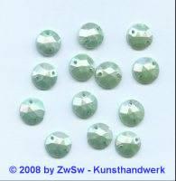 Strassstein, 1 Stück, (sattmint/AB), Ø 10mm
