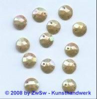 Strassstein, 1 Stück, (caramel/AB), Ø 10mm