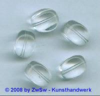 Glasperle, 1 Stück, (kristall), 15mm x 11mm