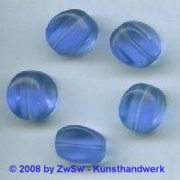 Glasperle, 1 Stück, (blau), 15mm x 11mm