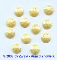 Strassstein, 1 Stück, (zitronengelb/AB), Ø 10mm