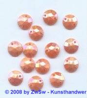 Strassstein, 1 Stück, (orange/AB), Ø 10mm
