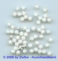 Strassstein, 1 Stück, (alabaster), Ø 4,5mm