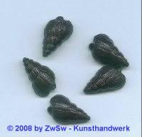Aufnähstein, 1 Stück, (braun), 20mm x 12mm