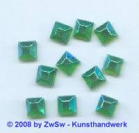 Strassstein 1 Stück grün/AB, 8mm x 8mm