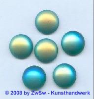 Muggelstein 1 Stück tannengrün/AB, Ø 15mm