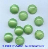Muggelstein, Ø 8mm hellgrün/opalisierend, 1 Stück