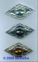 Anstecknadel mit Strass, 1 Stück, in kristall