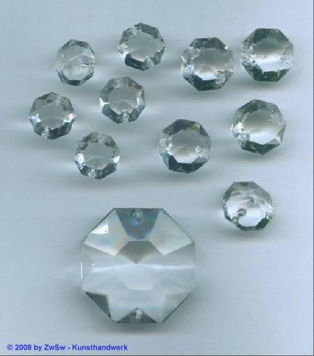 Kristallglas-Lüsterperle, 1 Stück, Ø 14mm, in kristall